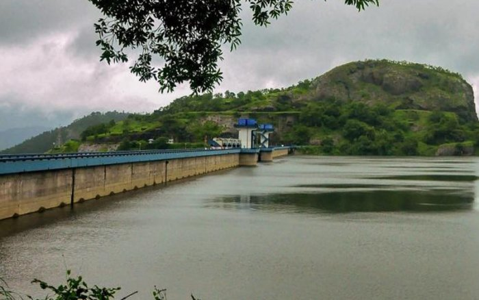 The water level at the dam stood at 2395.90 feet at 1300 hrs on Wednesday against the full reservoir level of 2403 feet. (PTI Photo)