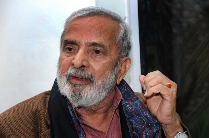 Prof. U R Ananthamurthy. DH file photo.