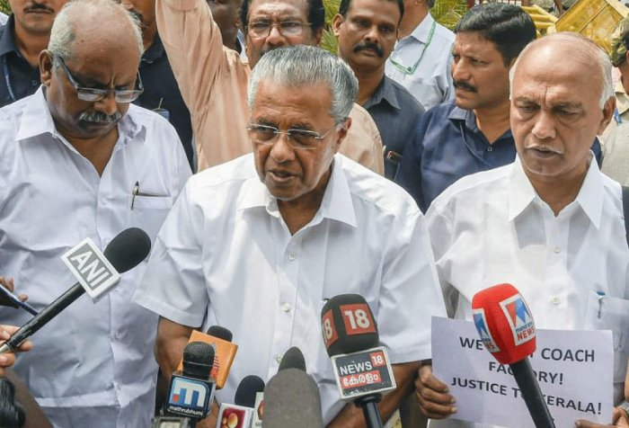 Chief Minister Pinarayi Vijayan is scheduled to leave for some of the Gulf countries on Wednesday as part of the efforts to mobilise funds from Kerala expatriates. DH File Photo
