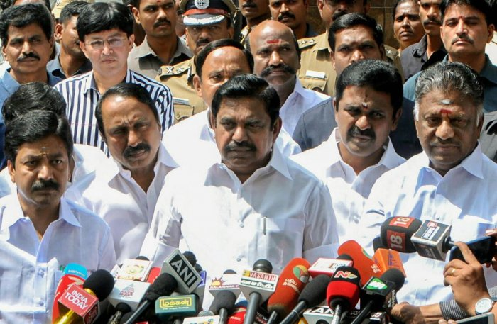 Tamil Nadu Chief Minister K Palaniswami said Kerala suffered the deluge due to the discharge of excess water from 80 reservoirs spurred by heavy rains in that state. PTI Photo