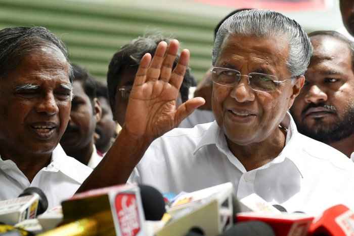 The Governor in a series of tweets said he had invited Vijayan for a discussion on various issues related to Sabarimala. (PTI file photo)