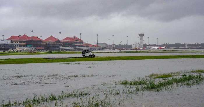 The Cochin International Airport, among the busiest in the country, suffered an estimated loss between Rs 220-250 crore after it was closed on August 15. PTI File photo