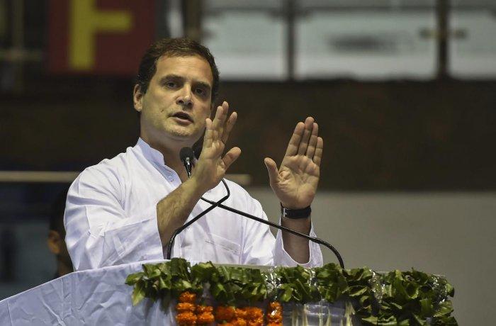 Congress President Rahul Gandhi. (PTI file photo)