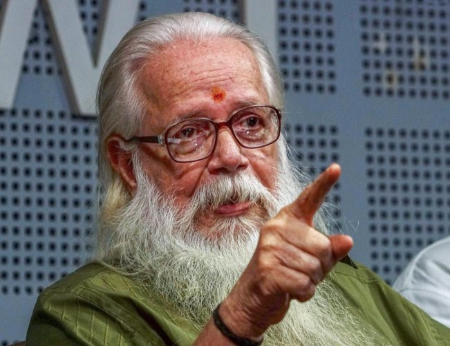 Nambi Narayanan was arrested in November 1994 over false charges that he, along with others, had leaked out documents related to cryogenic engine technology through two Maldivian women. PTI