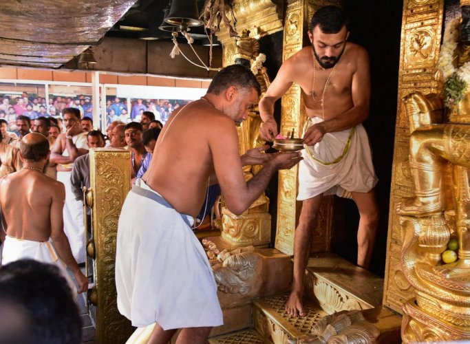 """A senior Kerala minister on Saturday attacked the Sabarimala temple's Tantri (chief priest), calling him a """"Brahmin monster"""" for conducting a 'purification' ceremony after two women in the menstrual age group entered the shrine. File photo"""