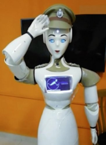 KP-Bot, the humanoid robot introduced by Kerala Police, is said to be the first of its kind by any police force in the country. DH Photo
