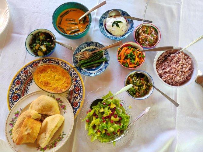 A Goan vegetarian meal