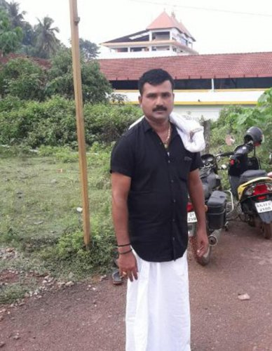 Laundryman Kushalappa Poojary at Sunnaje, Belthangady taluk.