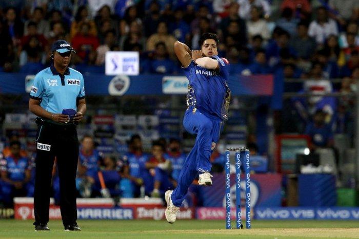 Jammu and Kashmir young fast bowler Rasikh Salam. (Image courtesy Twitter)