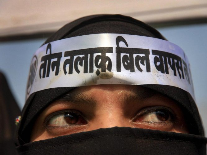 The BJP holds up the Triple talaq bill as one of the key achievements of its government at the Centre, but one of its key Muslim and woman candidates in West Bengal is not too keen on highlighting it in her campaign. PTI file photo