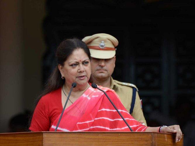Assembly polls in Rajasthan to be held under Vasundhara Raje