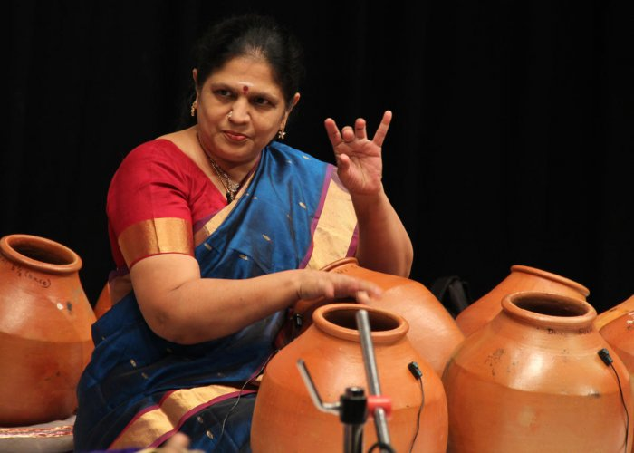 Sukkanya Ramgopal started playing the ghatam on the stage in 1993.