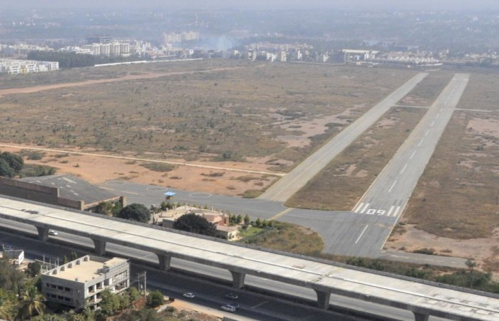 A file photograph of the Jakkur aerodrome near Yelahanka. dh Photo/ Janardhan B K