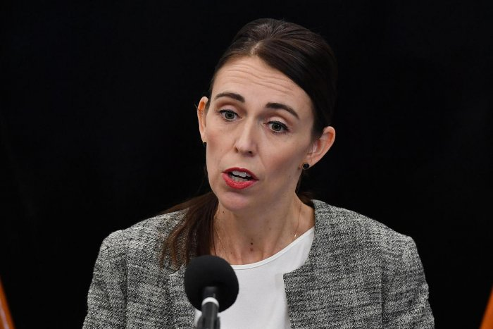New Zealand's Prime Minister Jacinda Ardern speaks to the media during a press conference at the Justice Precinct in Christchurch on March 28, 2019. AFP photo