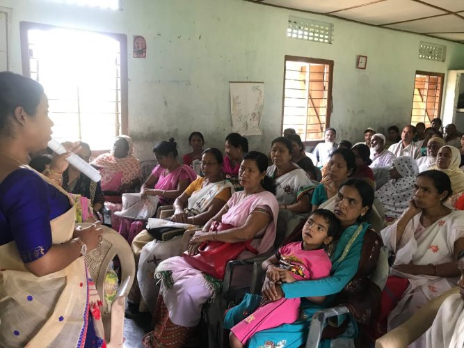 An awareness program for the persons with disability voters in Jorhat district in Assam recently. DH photo