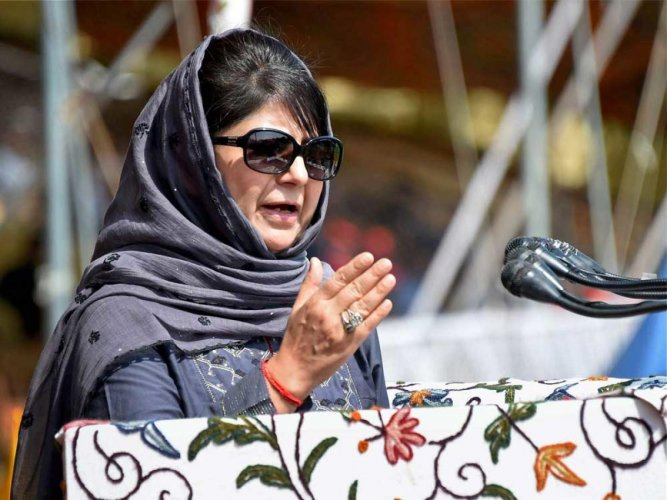 """PDP president and another former CM Mehbooba Mufti, who has decided to contest from the volatile south Kashmir Lok Sabha seat, said there is a threat to Article 35A and they need a voice in Parliament and the """"party thought I would fit the bill."""" (PTI File Photo)"""