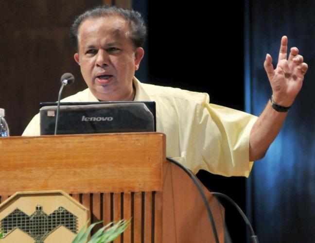 Former ISRO chairman and BJP member G Madhavan Nair. (DH File Photo)