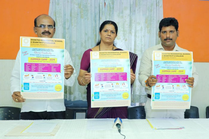 The poster on the summer camp – Shakthi Can Create 2019 – was released by Principal Vidya Kamath G and others in Mangaluru.