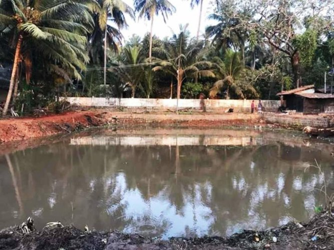 A lake near JLB Road, Kundapur town, was on the verge of becoming a landfill area due to government apathy, but has been rejuvenated and is filled with water.