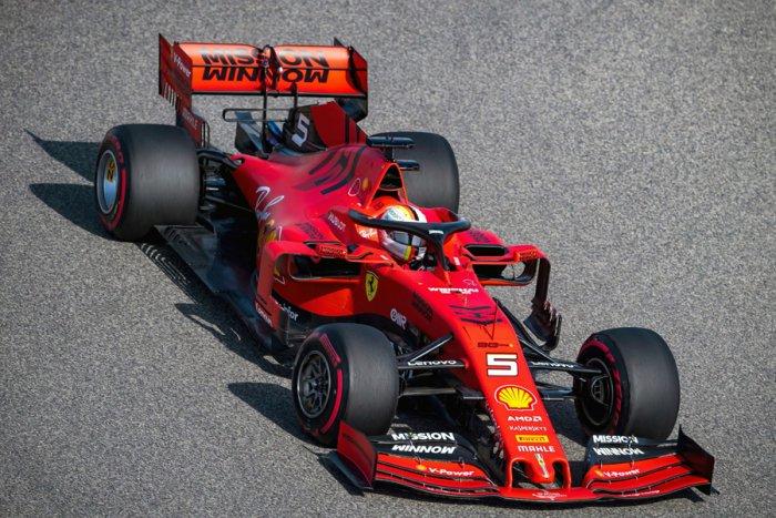 Ferrari's Sebastian Vettel during free practice ahead of the weekend's Bahrain Grand Prix. Picture credit: AFP