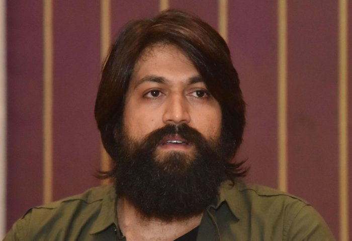 Actor Yash at the press conference in Bengaluru on Saturday March 09th 2019. Photo by Janardhan B K