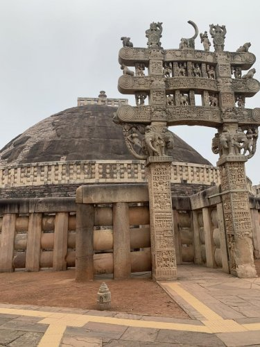 Sanchi Stupa in Bhopal. PHOTOS BY AUTHOR