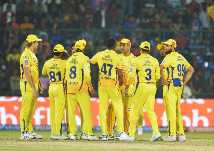 Chennai Super Kings cricketers. AFP File photo