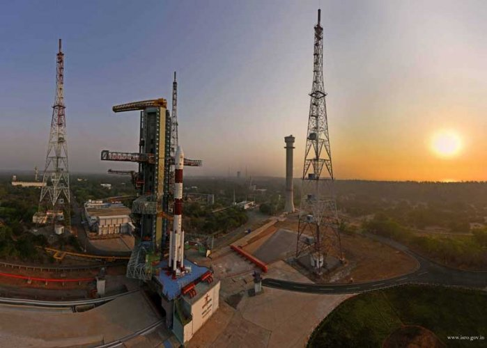 The countdown began at 6.27 am for the launch on board Indian Space Research Organisation's third generation workhorse Polar Satellite Launch Vehicle (PSLV), in its 47th flight, ISRO said. (Image: Twitter/ISRO)
