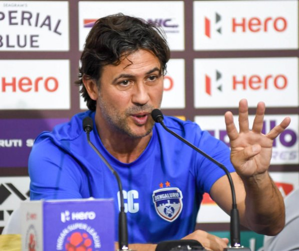 BFC coach Carles Cuadrat has managed to win the ISL title in his very first year as the coach of the team.  DH Photo/ B H Shivakumar