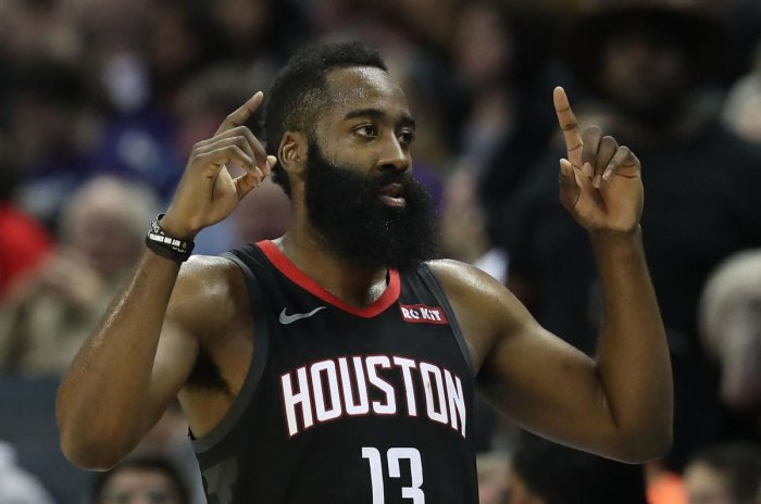 Harden had his 42nd career triple-double and his NBA record fifth with 50 or more points. (AFP File Photo)