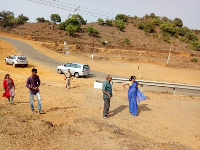 Deputy Commissioner Annies Kanmani Joy inspects arrangements at Talacauvery.