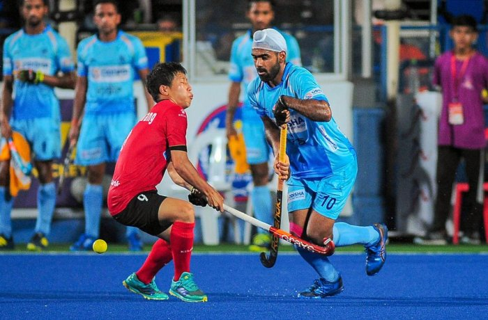 HARD TOIL: India's Simranjeet in action against Korea during the Sultan Azlan Shah Cup final on Saturday. PTI