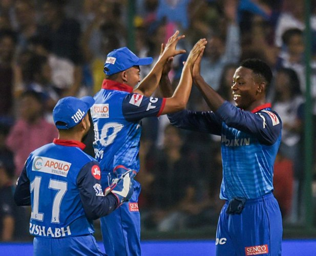BRILLIANT: Delhi Capitals' Kagiso Rabada successfully defended 10 runs in the Super Over against Kolkata Knight Riders. PTI