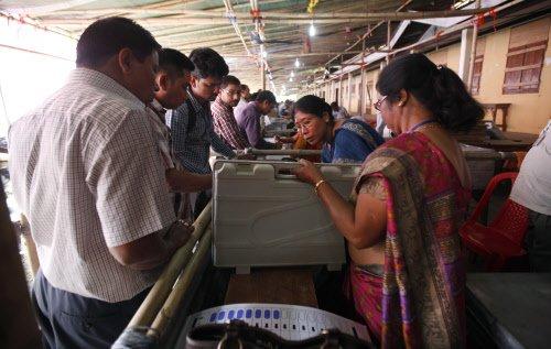 Voting begins for Lok Sabha polls in Assam and Tripura