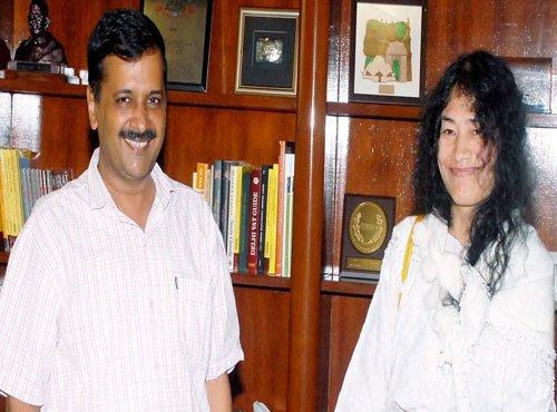 Sharmila meets Kejriwal, seeks advice on fighting Manipur polls