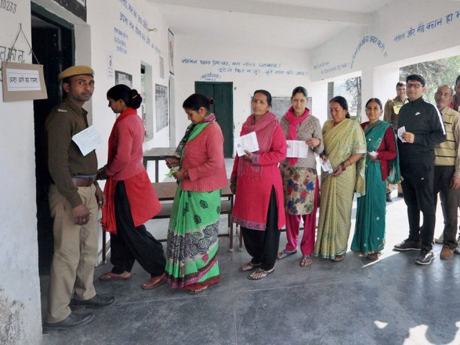 Uttarakhand Assembly polls: BJP forges ahead in 55 seats of 70