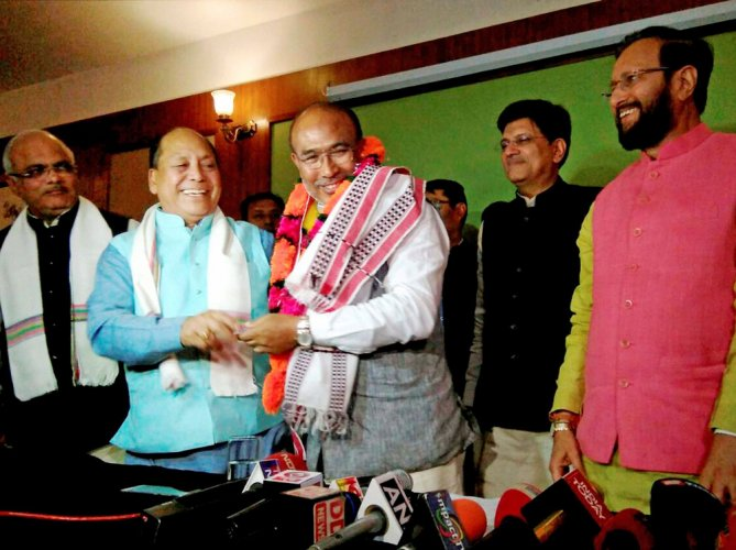 N Biren sworn in as CM of first BJP-led govt in Manipur
