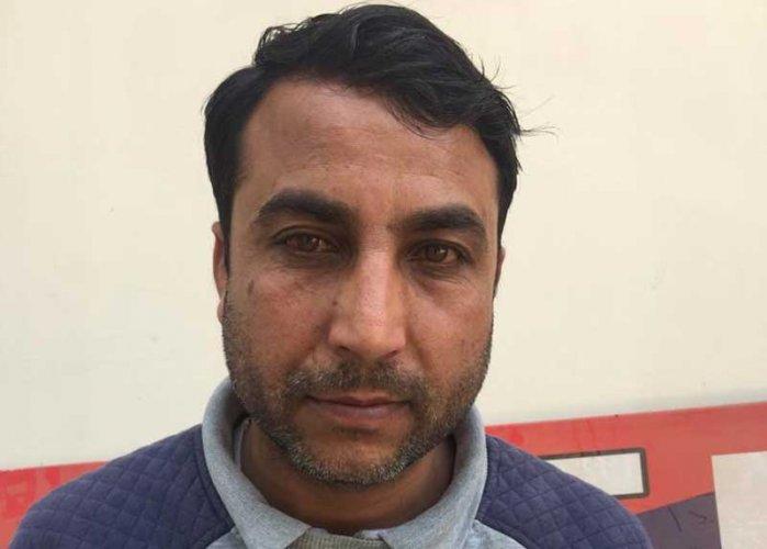 Faiyaz Ahmad Lone, a resident of Kupwara, had been evading arrest since 2015. (Image: ANI/Twitter)