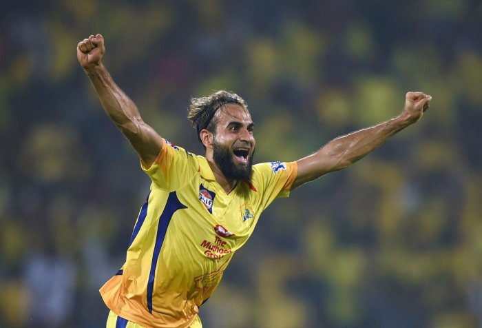 STEPPING UP: Imran Tahir bowled well in tough conditions in Chennai Super King's narrow win over Rajasthan Royals in Chennai on Sunday. PTI
