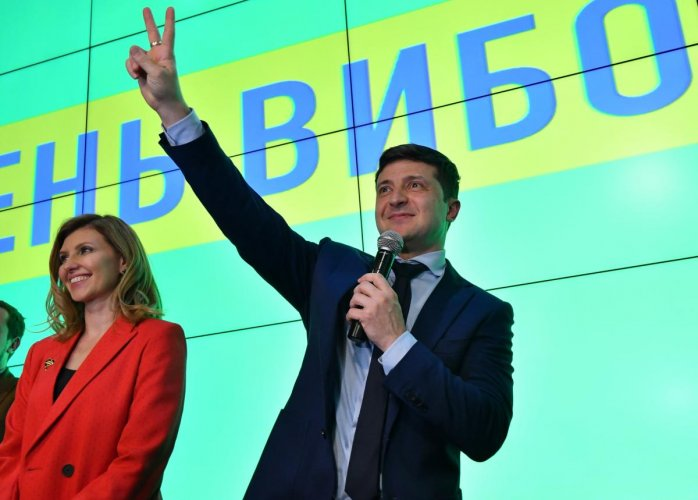 Ukrainian comic actor showman and presidential frontrunner Volodymyr Zelensky. AFP File photo