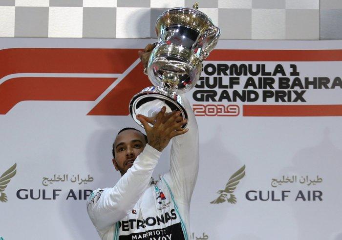Bahrain Grand Prix winner Lewis Hamilton. Picture credit: Reuters