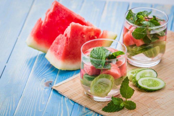Cucumber, watermelon