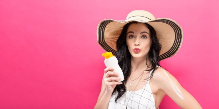 Protect your skin from the effects of the sun by applying a broad-spectrum sunscreen.
