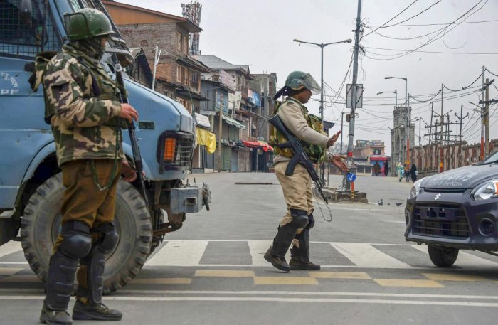 To ensure violence-free polling, smooth Amarnath yatra and to wipe out militancy from Kashmir, a joint key security meeting was held in Srinagar. PTI file photo