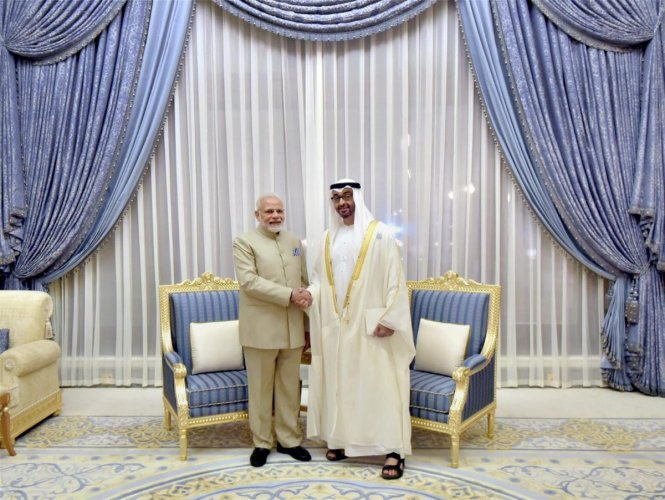 The Crown Prince, who is also the Deputy Supreme Commander of the UAE Armed Forces, said Modi played a key role in enhancing bilateral ties to the level of comprehensive strategic relations. (PTI File Photo)
