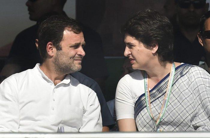 Congress President Rahul Gandhi and Congress General Secretary Priyanka Gandhi. PTI File photo