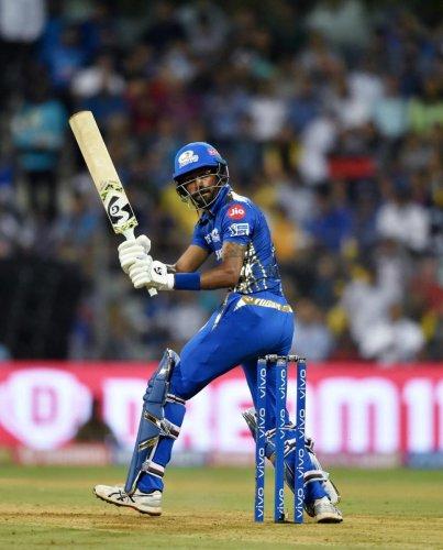 POWER HITTING: Mumbai Indians' Hardik Pandya has been in great for during the IPL. PTI