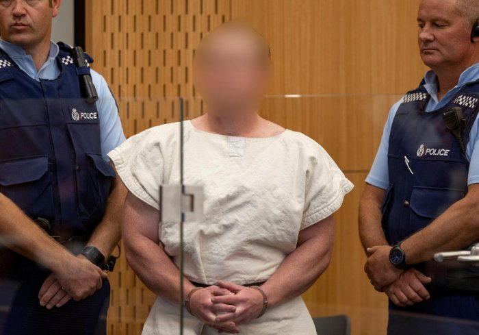 Brenton Tarrant, charged for murder in relation to the mosque attacks, is seen in the dock during his appearance in the Christchurch District Court, New Zealand. (Reuters File Photo)