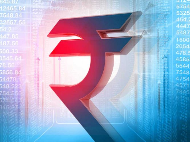 At the Interbank Foreign Exchange, the rupee opened on a weak note at 68.56 then fell further to 68.66 against the US dollar, showing a decline of 25 paise over its previous closing.