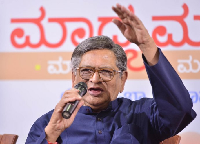 BJP leader and former chief minister S M Krishna begin campaigning for Hassan Lok Sabha. DH file photo